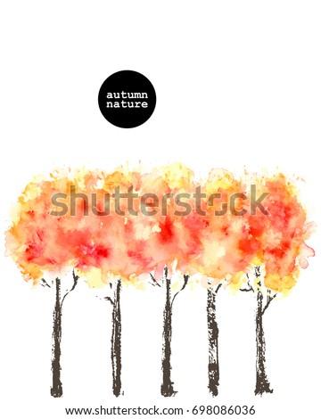 hand drawn autumn nature