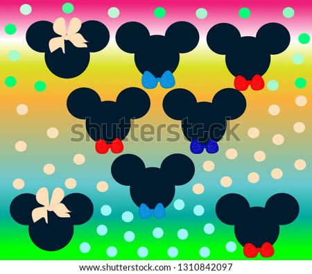 hand drawn background mickey