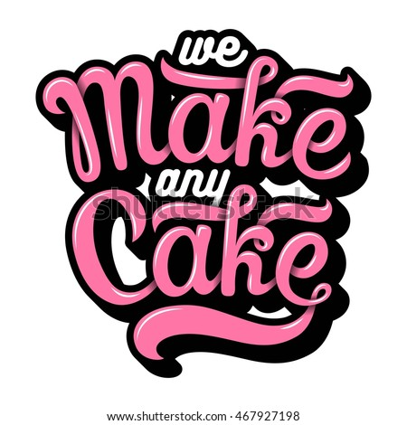 hand drawn bakery lettering in