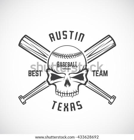 hand drawn baseball team logo