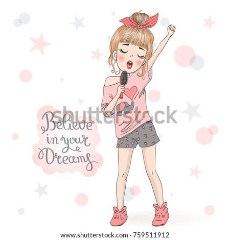 hand drawn beautiful cute