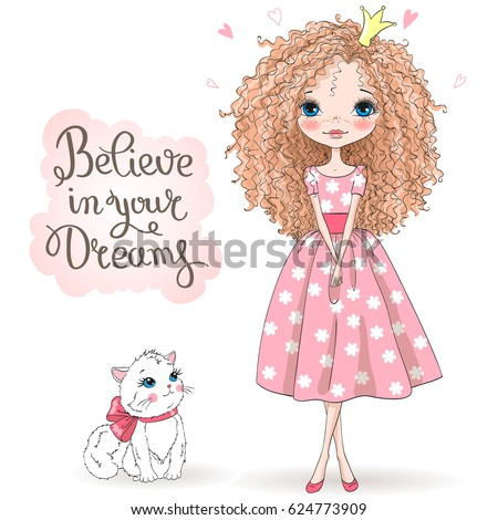 stock-vector-hand-drawn-beautiful-cute-romantic-redhead-curly-girl-with-freckles-and-pretty-cat-on-the