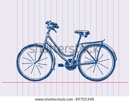 Hand drawn bicycle. Visit my portfolio for huge hand drawn collection