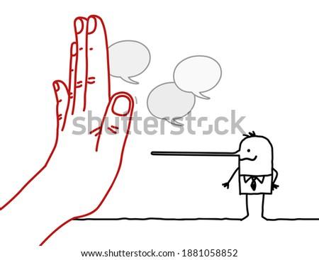 hand drawn big hand with