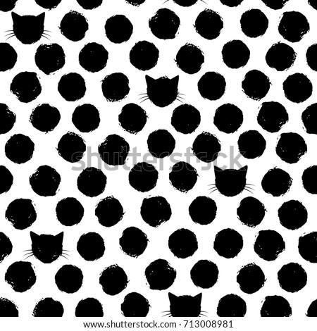 hand drawn big polka dots with