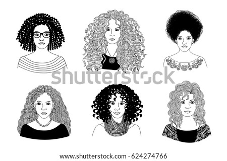 Afro Hair Girl Download Free Vector Art Stock Graphics Images - Girl hairstyle vector free download