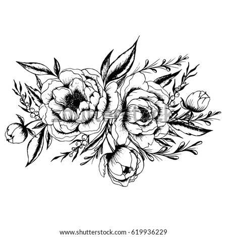 Rose flowers by hand drawing and sketch with line art on white rose flowers by hand drawing and sketch with line art on white backgrounds ez canvas mightylinksfo