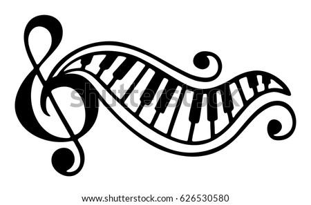 hand drawn black and white