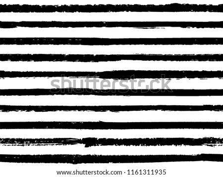 hand drawn black white striped