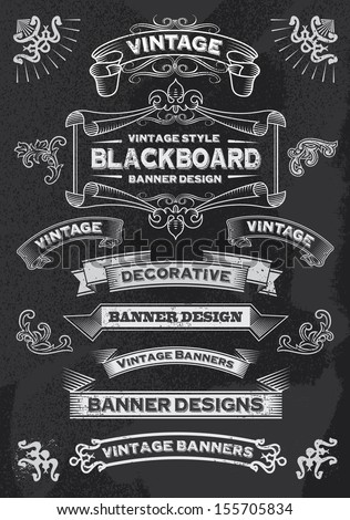 stock-vector-hand-drawn-blackboard-banner-vector-illustration-with-texture-added-chalkboard-ribbon-and-banner