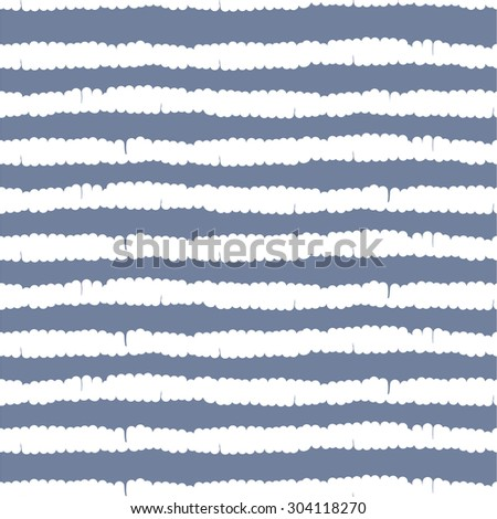 Hand drawn blue and white stripes seamless vector pattern #304118270
