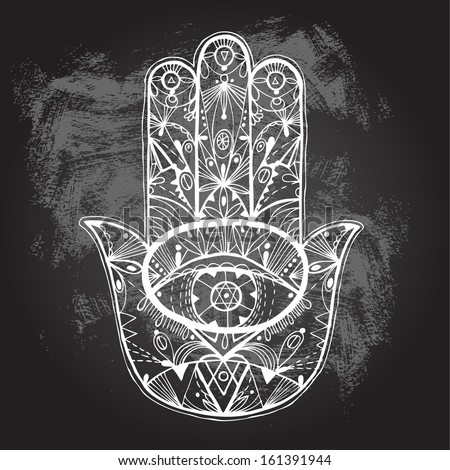 Hand Of Hamsa Wallpaper Drawn Boho