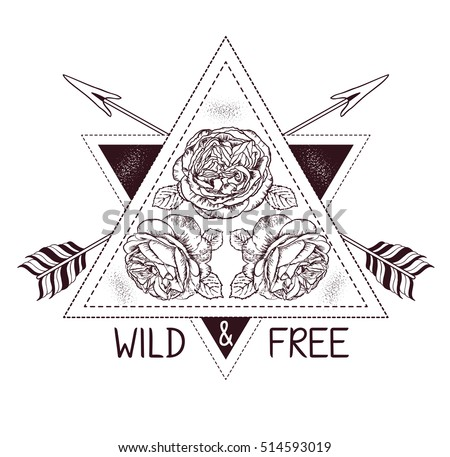 free boho feathers with arrows vector art download free vector art