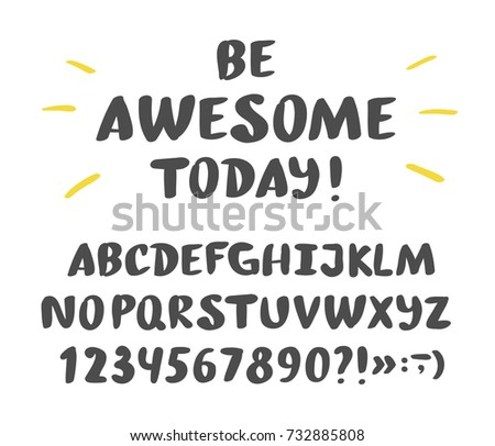 Hand drawn brush ink vector ABC upper case letters set. Handwritten lettering vector font alphabet.
