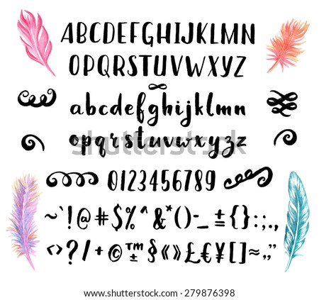 hand drawn brush pen font for