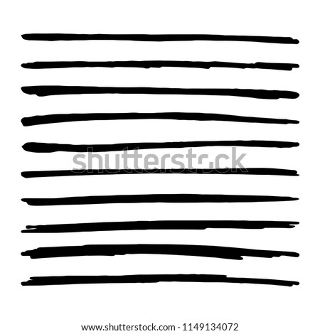 hand drawn brush strokes black