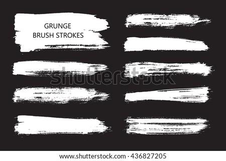 Hand drawn brushes.Grunge brush strokes.Vector. #436827205