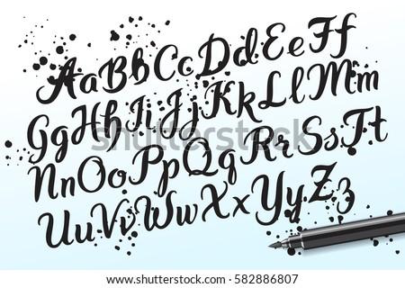 Vector graffiti alphabet letters download free vector art stock