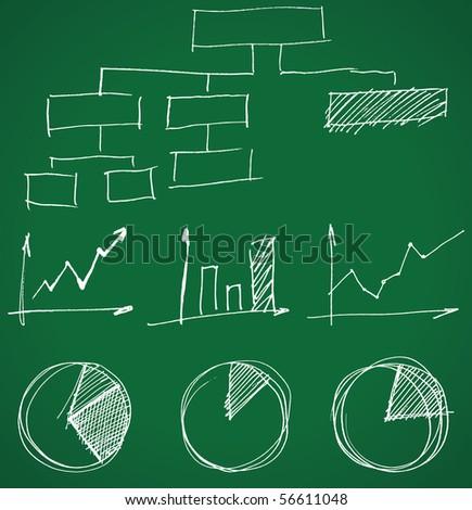 hand drawn business graphs
