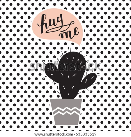 hand drawn cactus plants with