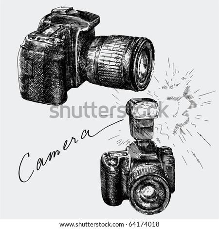 hand drawn camera