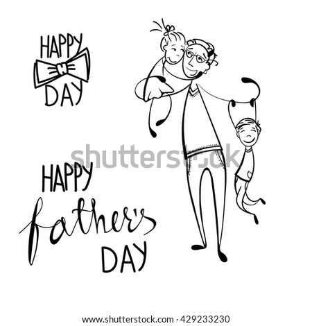 hand drawn card for father's