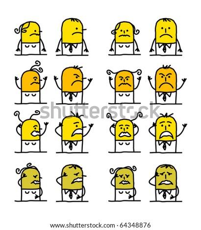 hand drawn cartoon characters - badness