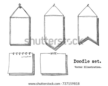 paper note sketch style download free vector art stock graphics