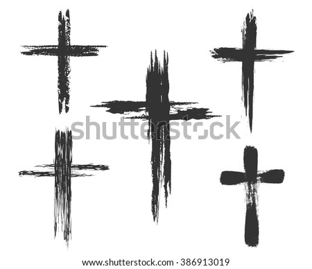 hand drawn christian cross