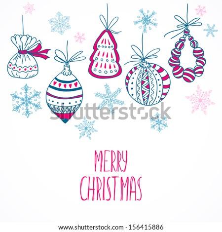 hand drawn christmas