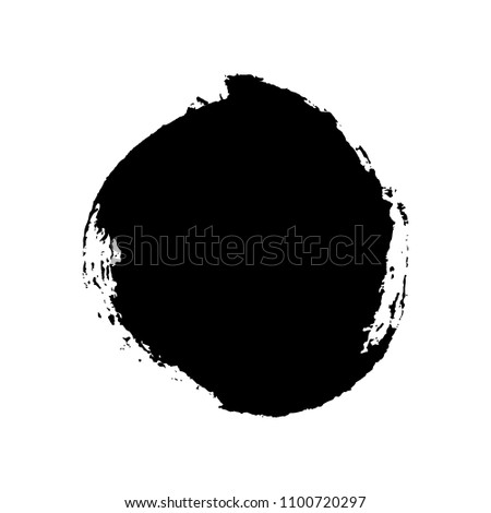 Hand drawn circle. Vector illustration. Grunge design element. Template for text. Vector background for decor of banners, inscriptions, logos in grunge design. #1100720297
