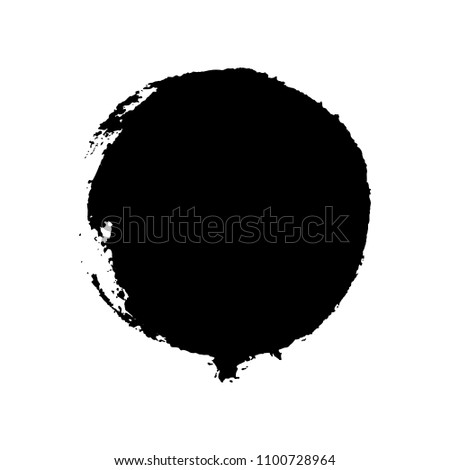 Hand drawn circle. Vector illustration. Grunge design element. Template for text. Vector background for decor of banners, inscriptions, logos in grunge design. #1100728964