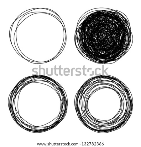 hand drawn circles  vector logo