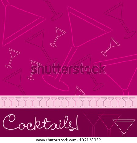 Hand drawn cocktail card in vector format.