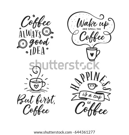 hand drawn coffee related