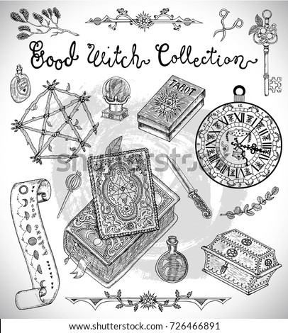 hand drawn collection with