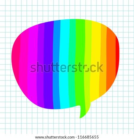 Hand-drawn colorful speech bubbles