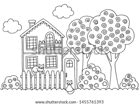 hand drawn coloring page with a