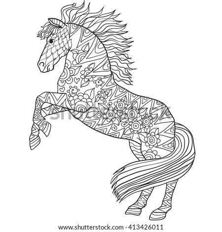 HD wallpapers draft horse coloring page