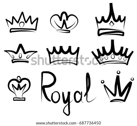 vector icons of crowns download free vector art stock graphics