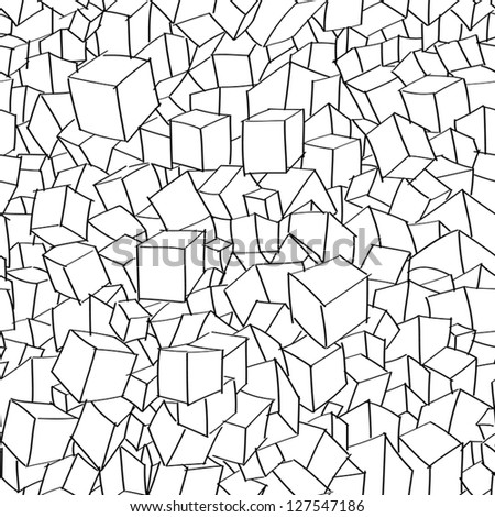 Hand drawn cubic seamless pattern