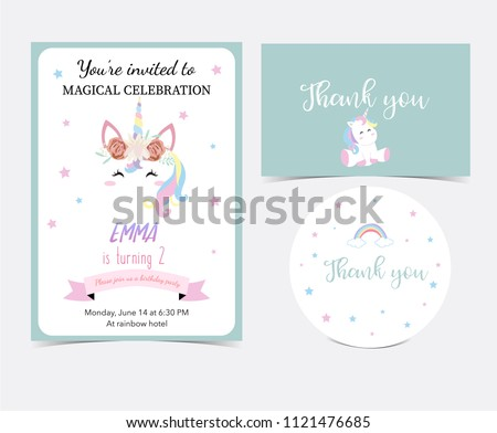 hand drawn cute card with