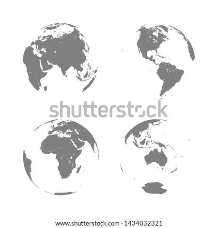 hand drawn cute cartoon earth
