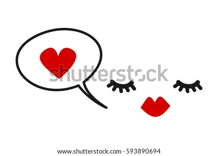 hand drawn cute vector card