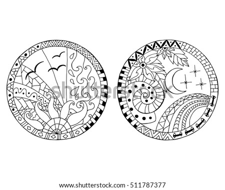 Circles Coloring Page Download Free Vector Art Stock Graphics Circle Coloring Pages