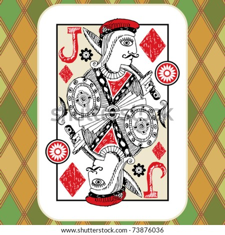 hand drawn deck of cards