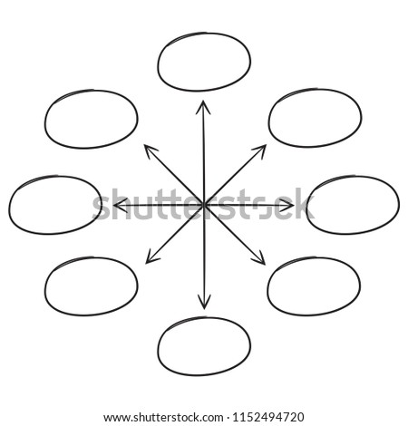 hand drawn diagram template white background