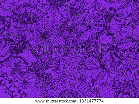 hand drawn doodle backdrop