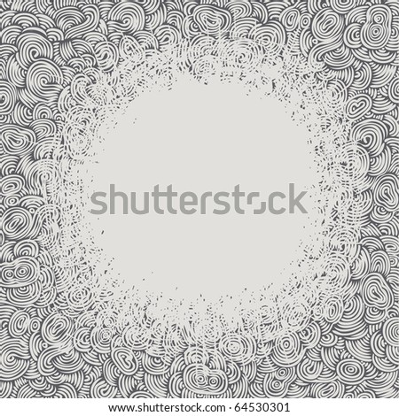 Hand-drawn doodle background with space for your text, vector illustration