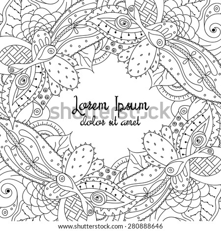 Royalty Free Hand Drawn Doodle Frame With Place For 284577995